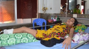 Workers suffered horrific, life-changing injuries, such as Musamat who lost limbs in the collapse. (BBC)