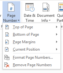 Page number